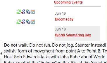 Event Description as href title - hover text